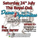 Damo And The Dynamites gig at The Royal Oak